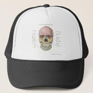 Bones of the skull anatomical design trucker hat