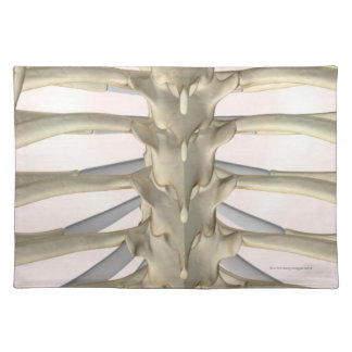Bones of the Thoracic Vertebrae Placemat