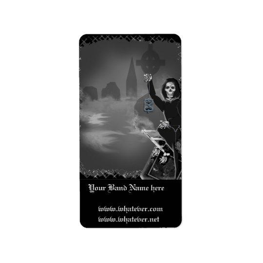 boneyard halloween address label