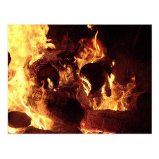 Bonfire #1 postcard