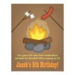 Bonfire Camping Birthday Party 11 Cm X 14 Cm Invitation Card