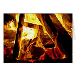 Bonfire On Halloween Greeting Card