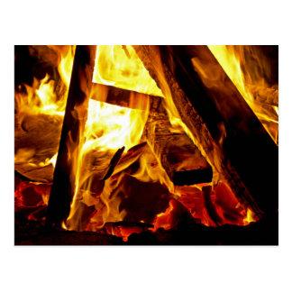 Bonfire On Halloween Postcard