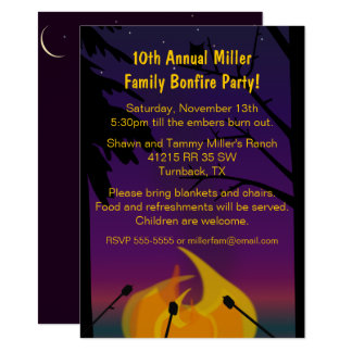 Bonfire Outdoor Party Invitation