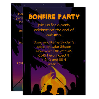 Bonfire Party Invitation