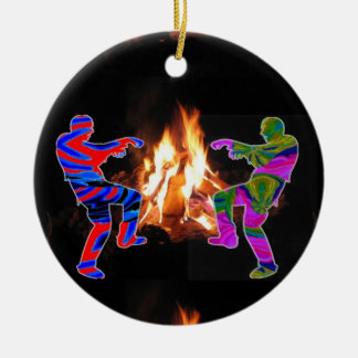 BonFire Zombie Dance Christmas Ornament