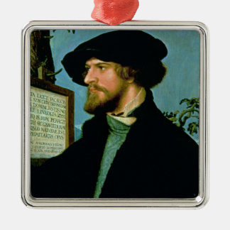 Bonifacius Amerbach, 1519 (oil on pinewood) Christmas Ornament
