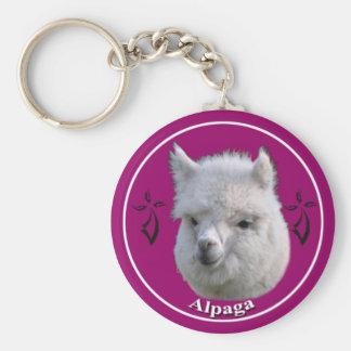 Bonito the alpaca key ring