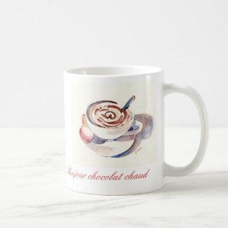 Bonjour chocolat chaud coffee mug
