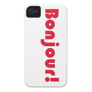 Bonjour French Language Hello Typography Gift Case-Mate iPhone 4 Cases