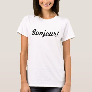 Bonjour! French Language Hello Typography Tee