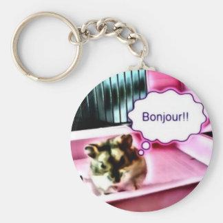 Bonjour Hamster Keychain