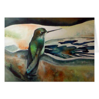 Bonjour II Hummingbird Greeting Card