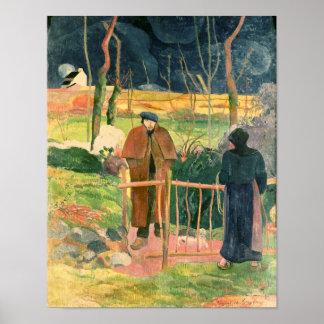 Bonjour, Monsieur Gauguin, 1889 Poster