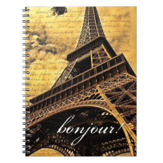 Bonjour! Paris Themed Notebook