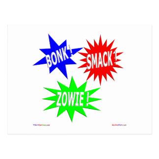 Bonk Smack Zowie Postcard