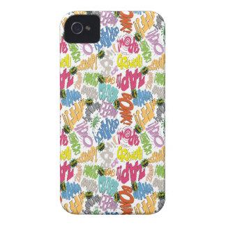BONK ZAP CRASH Pattern Case-Mate iPhone 4 Case