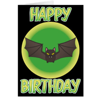 Bonkers Bat Birthday Card