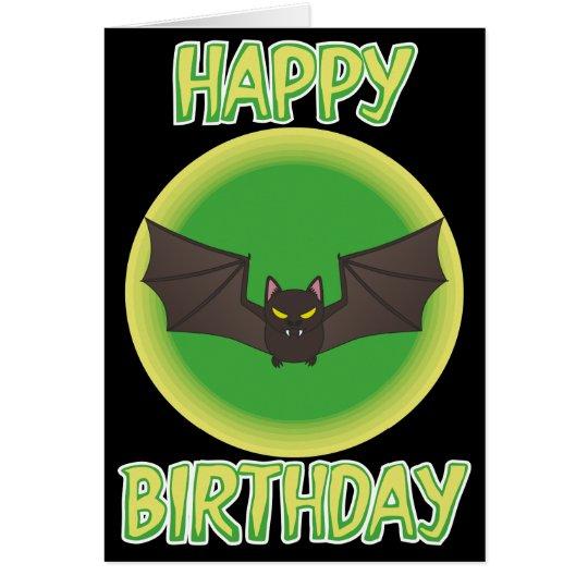 Bonkers Bat Birthday Card
