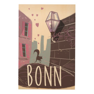 Bonn Germany Vintage style travel poster Wood Canvases