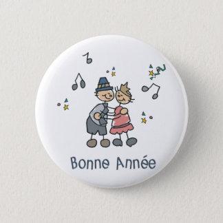 Bonne Annee 6 Cm Round Badge
