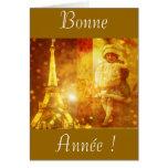 Bonne année de Paris Greeting Card