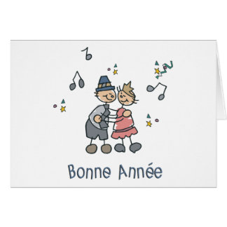 Bonne Annee Greeting Cards