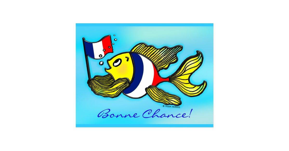bonne chance french flag fish funny cartoon postcard office supplies clip art free Cross Clip Art