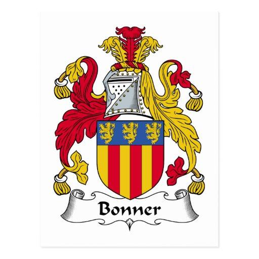 Bonner Family Crest Post Card