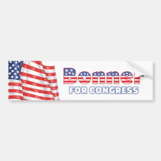 Bonner for Congress Patriotic American Flag Design Bumper Sticker