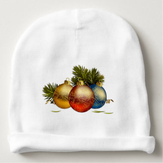 bonnet baby balls of Christmas Baby Beanie