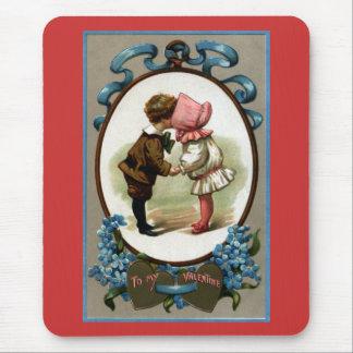 Bonnet Kids Vintage Valentine Mouse Pad