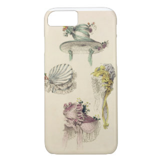 Bonnets for an occasion, fashion plate from Ackerm iPhone 7 Case