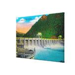 Bonneville Dam on Columbia River Stretched Canvas Prints