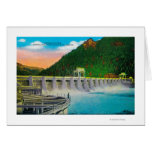Bonneville Dam on Columbia River Greeting Card