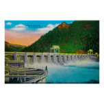 Bonneville Dam on Columbia River Poster