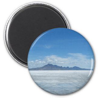 Bonneville Salt Flats 6 Cm Round Magnet