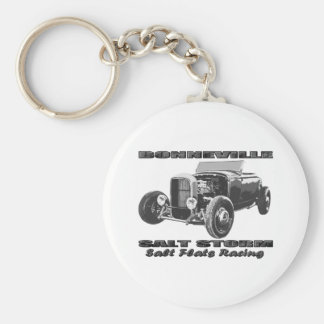 Bonneville Salt Flats Racing Basic Round Button Key Ring