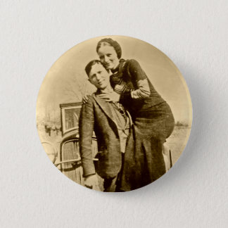 Bonnie and Clyde - The Barrow Gang 6 Cm Round Badge