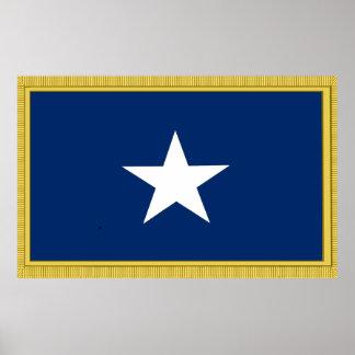 Bonnie Blue Flag 1st Texas Confederate Volunteers Poster