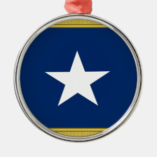 Bonnie Blue Flag First Texas Cofederate Volunteers Christmas Ornament