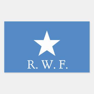 Bonnie Blue Flag Rectangle Sticker, Glossy Rectangular Sticker