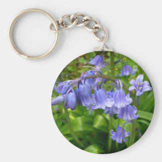 Bonnie Bluebell Basic Round Button Key Ring