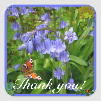 BONNIE BLUEBELL ~ Square Envelope Sealer/Sticker Square Sticker