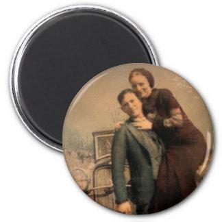 Bonnie & Clyde 6 Cm Round Magnet