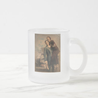 Bonnie & Clyde Frosted Glass Coffee Mug