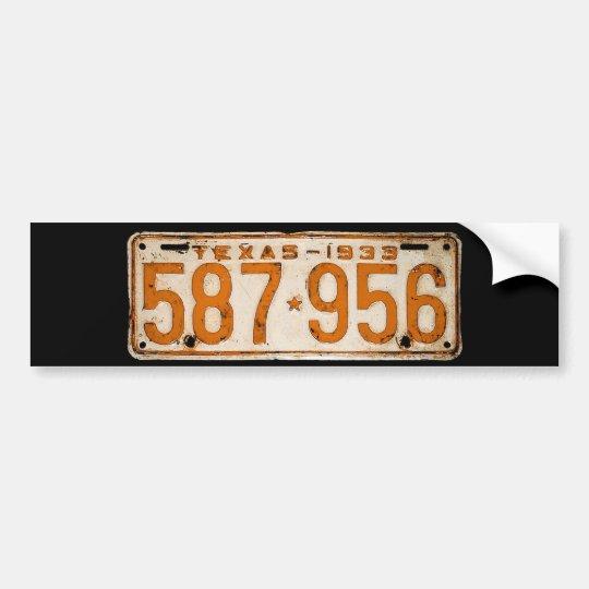 Bonnie & Clyde License Plate Bumper Sticker