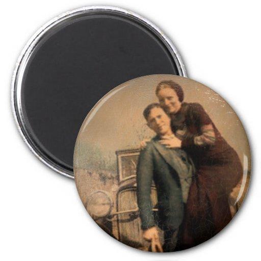 Bonnie & Clyde Refrigerator Magnets
