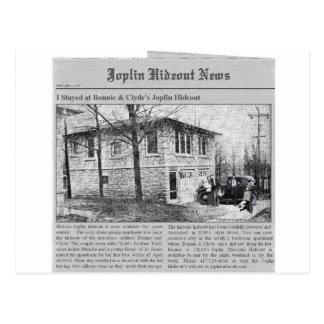 Bonnie & Clyde's Joplin Hideout Postcards