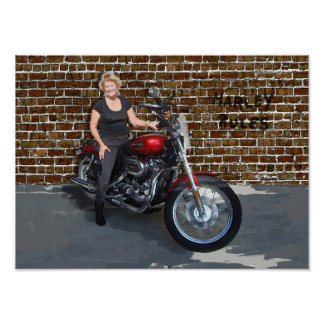 Bonnie Klarkson Motorcycle Posters